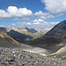 Zurück am Fuorcla Margun mit Einblick in das grüne Val Bever.