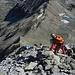 Abstieg über den Ostgrat zur Fuorcla Laviner (wird im mittleren Teil etwas schwieriger)<br />(Foto von Jakob)