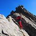 verso il piccolo saltino rocicoso: bellissima lama e roccia sempre ben proteggibile