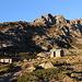 Am Refuge de l'Erco - Die Selbstversorgerhütte liegt gemäß Aufschrift am Gebäude auf ca. 1.650 m, vermutlich aber sogar etwas höher.