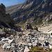 Im Aufstieg vom Refuge de l'Erco zum Monte Cinto - Rückblick.