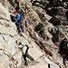 Im Aufstieg vom Refuge de l'Erco zum Monte Cinto - An einer der wenigen Stellen, die durchaus etwas ausgesetzt sind.