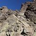 Im Aufstieg vom Refuge de l'Erco zum Monte Cinto - Unterwegs in schönem Fels. Bei Nässe dürfte aber kaum Freude herrschen, zumal offenbar auch etliche Flechten vorhanden sind.