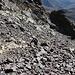 Im Aufstieg vom Refuge de l'Erco zum Monte Cinto - Nicht besonders angenehm steigen wir durch Schutt- und Blockfelder.