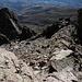 Im Aufstieg vom Refuge de l'Erco zum Monte Cinto - Rückblick in einer Höhe von ca. 2.460 m.