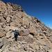 Unterwegs zwischen Monte Cinto und Pointe des Eboulis - Beim Abstieg über große Blöcke.