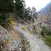 der Hüterweg, hier siehr man links noch Reste des Wasserbetts