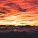 ein wahnsinns Sonnenaufgang über dem Nebelmeer erwartet uns nach dem kalten Aufsteig im Dunkeln.