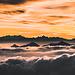 Gipfel über dem Nebelmeer