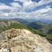 Aussicht Richtung Norden. Hier ware wir am höchsten Punkt. Der Steinmann ist einfach zu erreichen (T3). Um wirklich auf dem Gipfel zu kommen braucht man die Hände (T4).