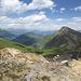 Ab dem höchsten Punkt mit Blick über Auf Safiental und Heinzenberg.