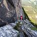 Unterer Teil des Klettersteigs