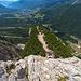 Aussichtspunkt mit Blick nach Cortina d'Ampezzo