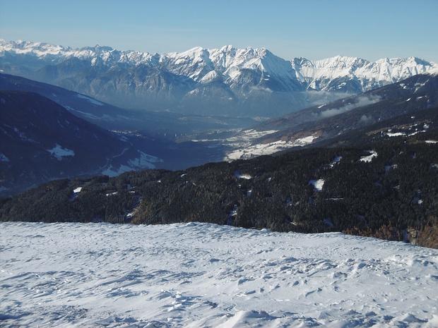 Blick ins Karwendel u. ins östliche Wetterstein