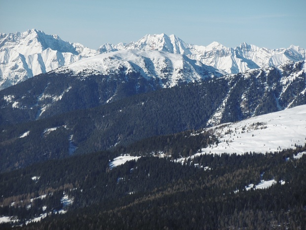 Blick über den Patscherkofel ins Karwendel