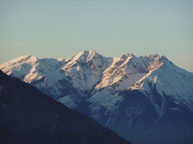 Karwendelberge im Spätnachmittagslicht