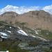 Links Huwetz (2923m) und rechts das Bättlihorn (2992m)