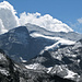 Monte Leone (3553m), Nordwand. Rechts im Vordergrund das Furggubäumhorn (2985m)