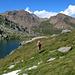 Links das Bättlihorn (2992m), im Vordergrund der Blausee
