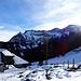 Winterwelt, aber die Schneedecke ist nicht sehr dick