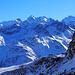 Dalla vetta panorama mozzafiato sulla triade Roseg - Scerscen - Bernina