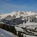 der ersten Blicke hinüber zum verschneiten Alpstein
