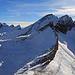 Aussicht vom Margelchopf auf Alvier und die Fulfirste