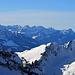 die Aussicht vom Margelchopf zu den Glarner Alpen
