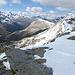 Aussicht über die ganze Bergkette, Piz Minor und Piz Alv.