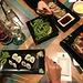 ... zum Abendessen mit japanischen Spezialitäten (im Japanika; unweit, östlich, der Kettenbrücke)