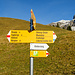 Der Klettersteig ist auf Wegweisern z.T. angeschrieben