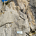 Der Einstieg zum Klettersteig Fruttstägä vom Wanderweg aus gesehen