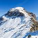 Gamperstock Westflanke. Ca. 150 Höhenmeter über steile Grasflanken, heute mit etwas Nassschnee.
