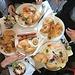 ... zum opulenten Frühstück mit meinen drei Töchtern im Briós Café