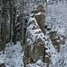 Kleiner Hahn mit Klettersteig in der Talseite