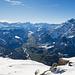 Blick vom Tristli in Richtung Linthal. Hier sieht man etwas mehr vom Tal als vom Schilt aus.