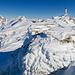 Der Gipfelkopf vom Tristli ist geschmückt mit Schnee und Eis