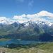 Gipfelpanorama von Piz Lagrev bis Piz Materdell.