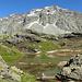 Zurück am See auf 2495m mit Piz Lagrev im Hintengrund.