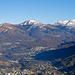 Zoom über Lugano hinweg zum Monte Bar