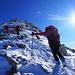 sulla facile cresta per la cima