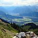 Weitsicht das Tal hinauf bis nach Bludenz