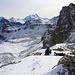 Meidpass; im Hintergrund die Barrhörner, Bishorn und Weisshorn