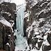 alpinisti impegnati sulla ben più difficile Cascata Fluido Azzurro