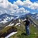 es war ein traumhaftes Wetter an diesem Tag, - vor 2 1/2 Jahren war ich noch mit Jeans auf die Berge gewandert.