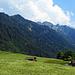 Bei der Rückfahrt, Ausblick zum Rappenstein, ich war hier in der Nähe vom Triesenberg.