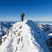 Silvia beim Gipfelsturm