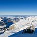 Gipfelblick in Richtung Norden mit Wägitalersee