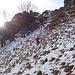 Un traverso fuori sentiero per aggirare dei saltini rocciosi verso il Pizzo Grande.