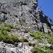 Im mittleren Teil des Klettersteiges kurz oberhalb der 2. Schlüsselstelle.